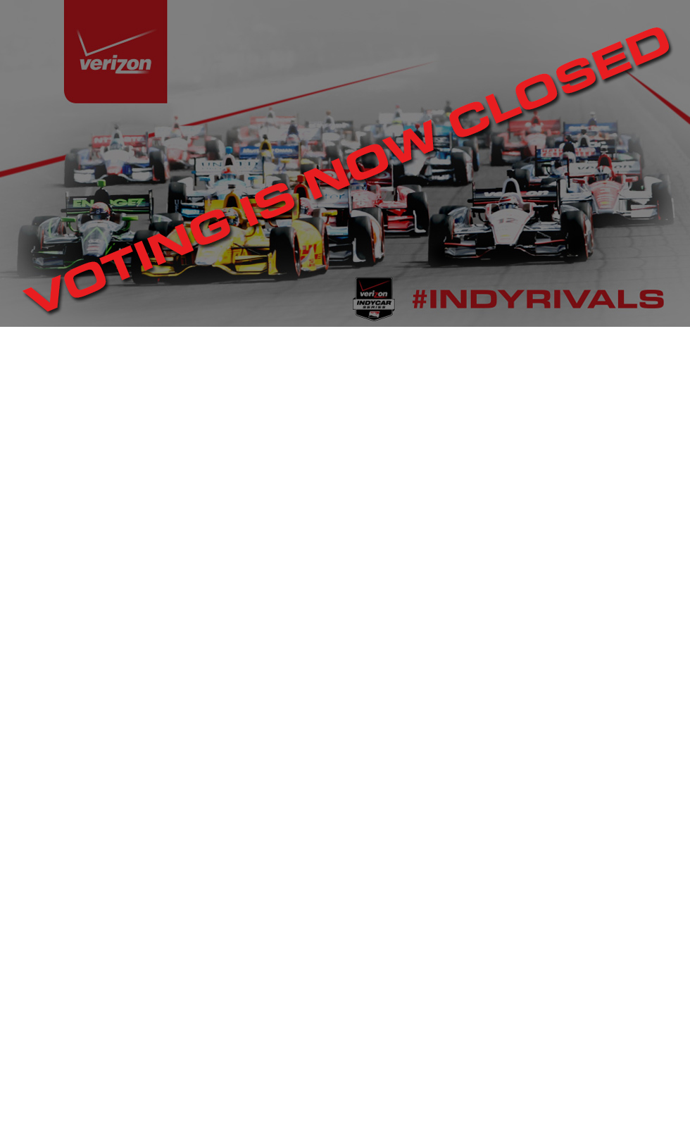 #IndyRivals Voting is now closed