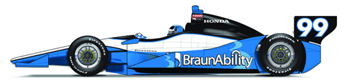 Sam Schmidt Indy 500 Car