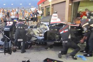 Team Penske Fixing Car 12 at ACS