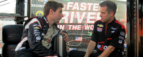 Will Power and Dave Faustino