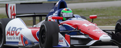 Conor Daly on track at Sebring