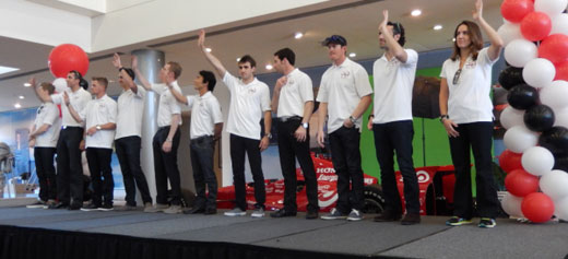 Honda lineup at gathering in Long Beach