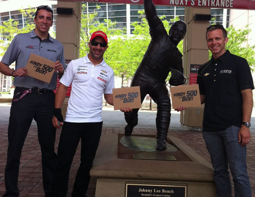 TK JWill and Ed Carpenter in Cincinnati