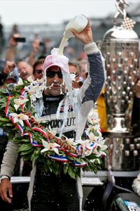 TK with Borg-Warner Trophy and Milk