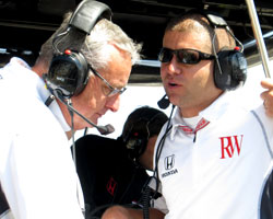 Andy O'Gara with RW Motorsports representative
