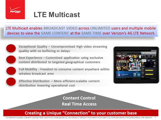 Verizon LTE Multicast Infographic