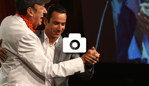 Helio Castroneves and Jim Nabors