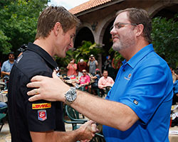 Ryan Hunter-Reay and Eddie Gossage