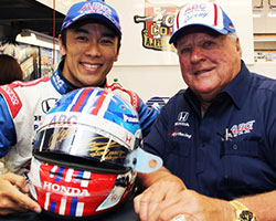 Takuma Sato and A.J. Foyt