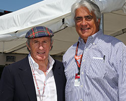 Mark Miles and Sir Jackie Stewart