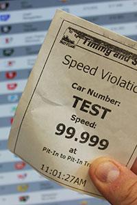 Pit Lane Speeding Ticket