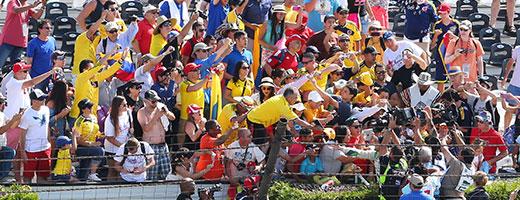 Colombian fans at Pocono