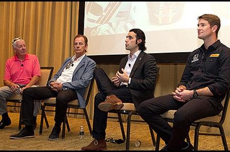 Tom Sneva, Arie Luyendyk, Dario Franchitti, and Ryan Hunter-Reay