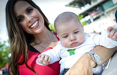 Lauren Kanaan and son, Deco