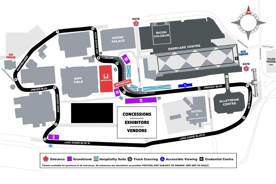 Honda Indy Toronto - 2016 Map