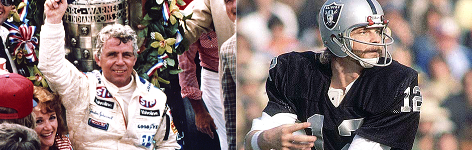 Gordon Johncock and Ken Stabler