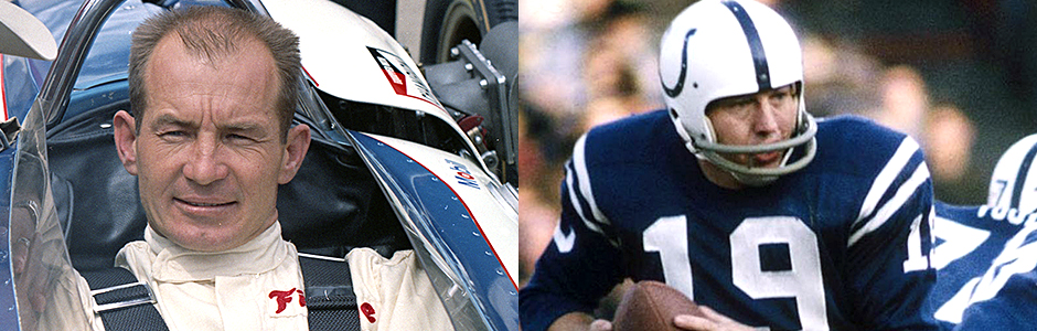 Parnelli Jones and Johnny Unitas