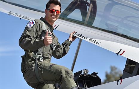 Graham Rahal with the USAF Thunderbirds