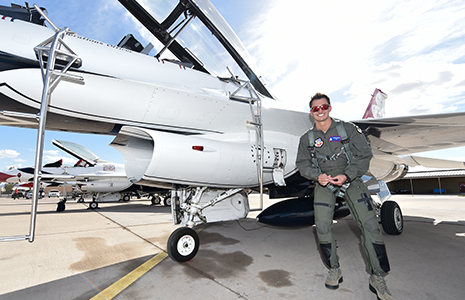 Graham Rahal with the USAF Thunderbirds