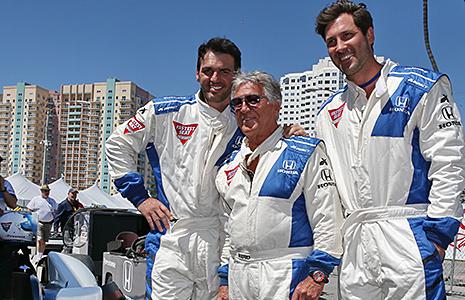 Mario Andretti, Maksim Chmerkovsky and Tony Dovalani