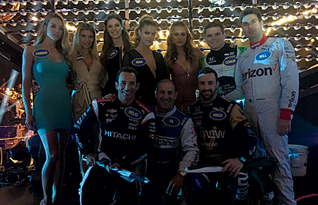 Indy car stars vs. swimsuit models