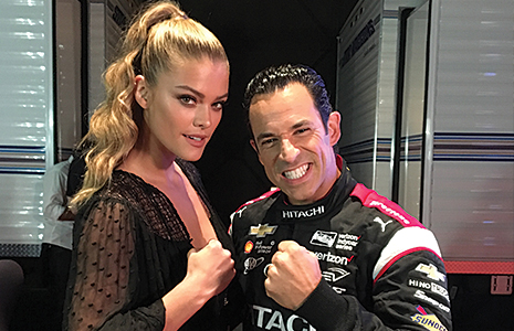 Nina Agdal and Helio Castroneves