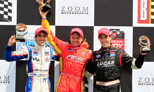 Firestone Indy Lights Podium at Barber Motorsports Park