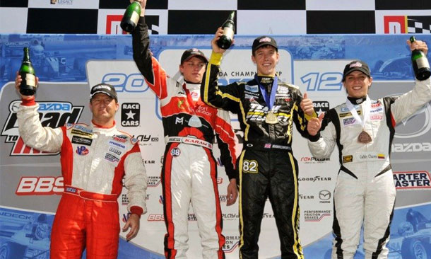Star Mazda Race 1 Podium from Barber Motorsports Park