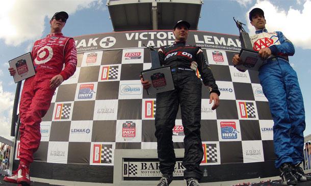 IZOD IndyCar Series Podium - Barber Motorsports Park
