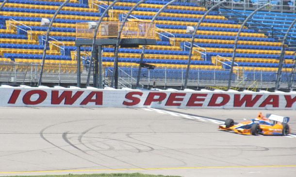 Iowa Speedway Test - Charlie Kimball