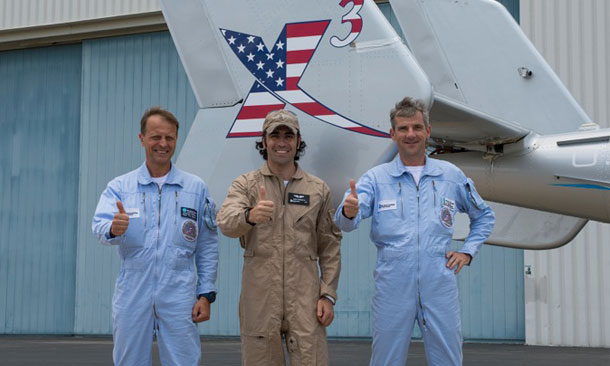 Franchitti Rides New X3 Helicopter