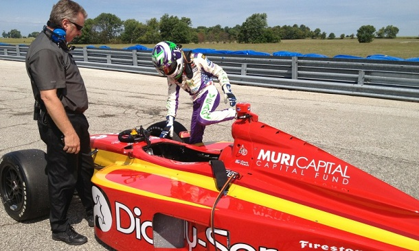 Veach completes successful test in Firestone Indy Lights car
