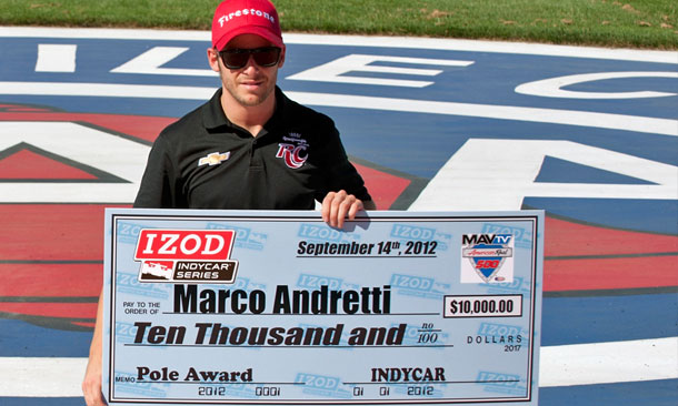 Marco Andretti wins pole for the MAVTV 500
