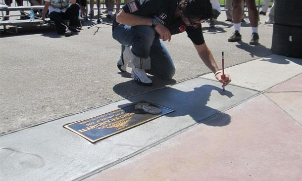 Franchitti enters Auto Club Speedway Walk Of Fame