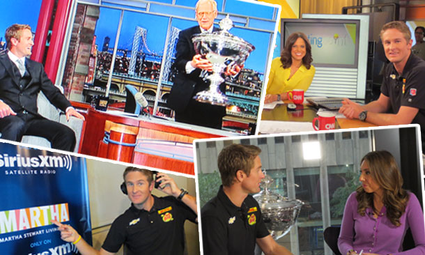 Hunter-Reay on tour in New York City