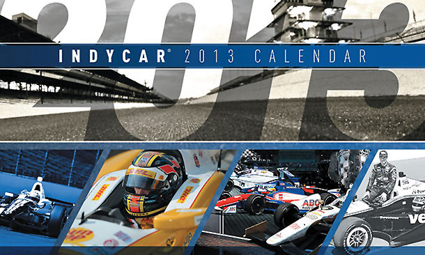 2013 INDYCAR Calendar cover