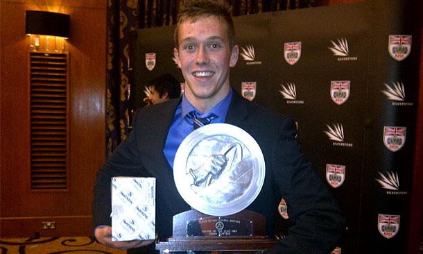 Jack Hawksworth wins award