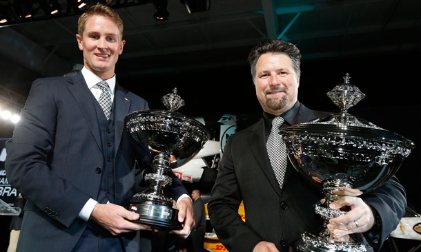 Ryan Hunter-Reay and Michael Andretti