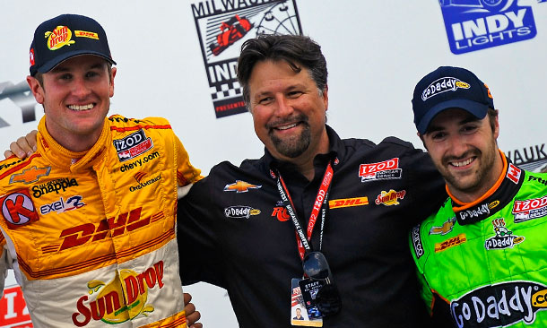 Andretti Podium at Milwaukee