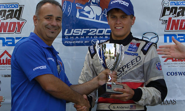 Anderson moves up to Pro Mazda