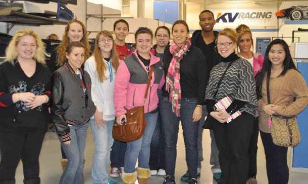 STEM visit to KV Racing Technologies
