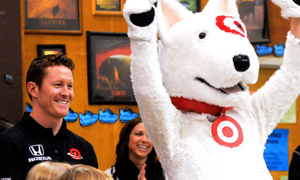 Scott Dixon with Bullseye in Birmingham