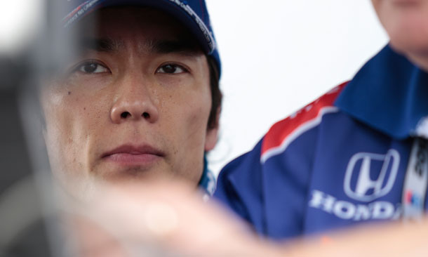 Takuma Sato during St. Pete Practice