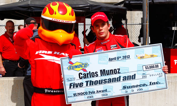 Carlos Munoz wins pole position for Legacy Indy Lights 100