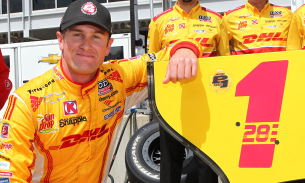 Hunter-Reay wins Verizon P1 Award at Barber