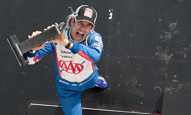 Castroneves claims 3rd Place Trophy at Barber