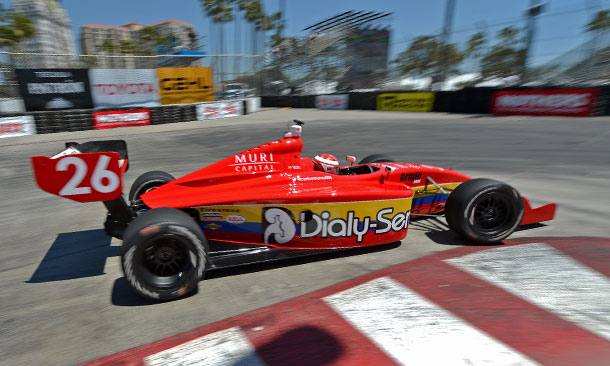 Carlos Munoz leads Practice 1 at Long Beach