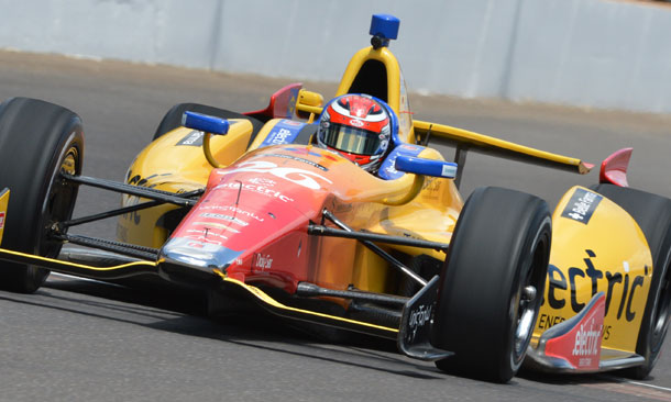 Carlos Munoz at Indianapolis Motor Speedway