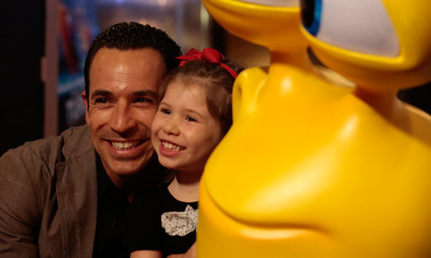 Helio and daughter during Toronto TURBO Premiere