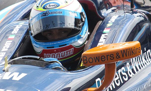 Luca Filippi takes first laps
